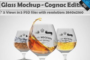 Glass Mockup - Cognac Glass Mockup
