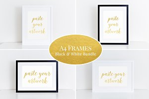 A4 Clean frame mockup bundle (44)