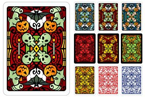 Halloween Playing Card Back Design