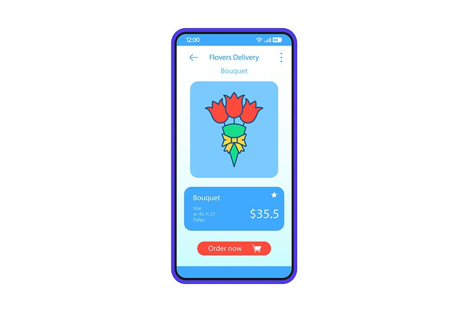 Flowers delivery app interface