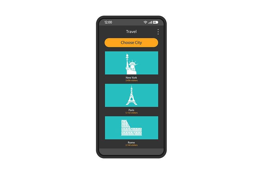 Tourism smartphone interface