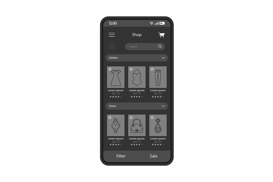 Online fashion shopping app