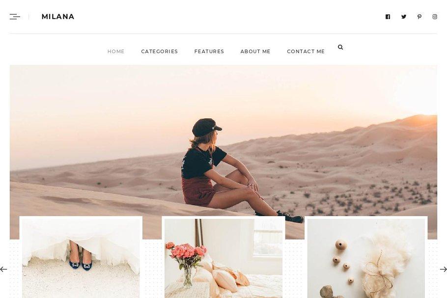 Milana-Personal WordPress Blog Theme