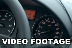Traveling by car on low speed