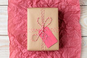 Plain Wrapped Present on Tissue