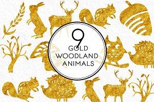Gold Woodland Animals