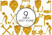 Gold Golf Icons