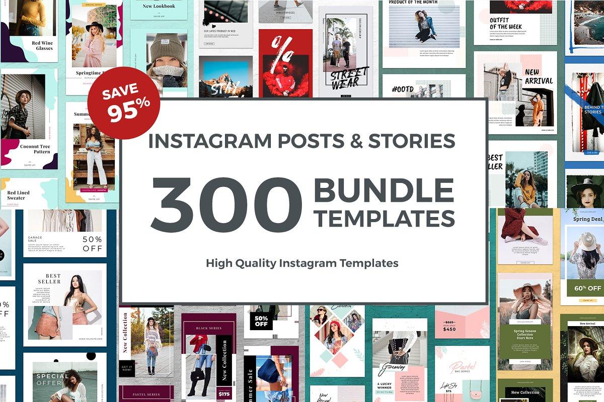 Instagram Templates Bundle 95% OFF