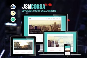 JSN Corsa - Leverage your social web