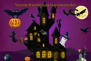 Halloween Clipart Elements Set