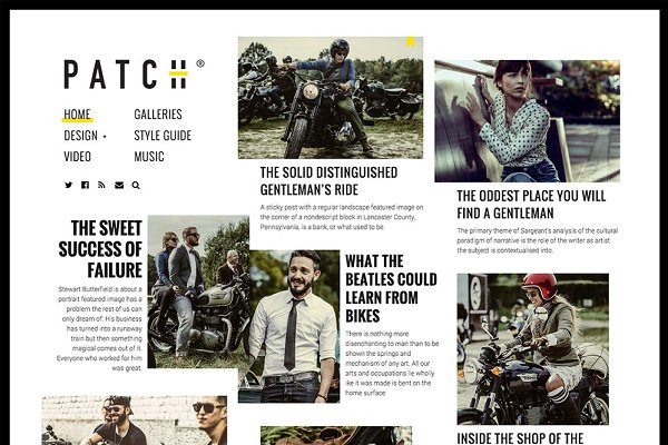WordPress Magazine Themes: Pixelgrade - PATCH - A Newspaper-Inspired Theme