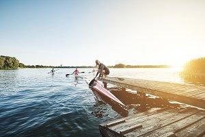 Elite sports rowing team
