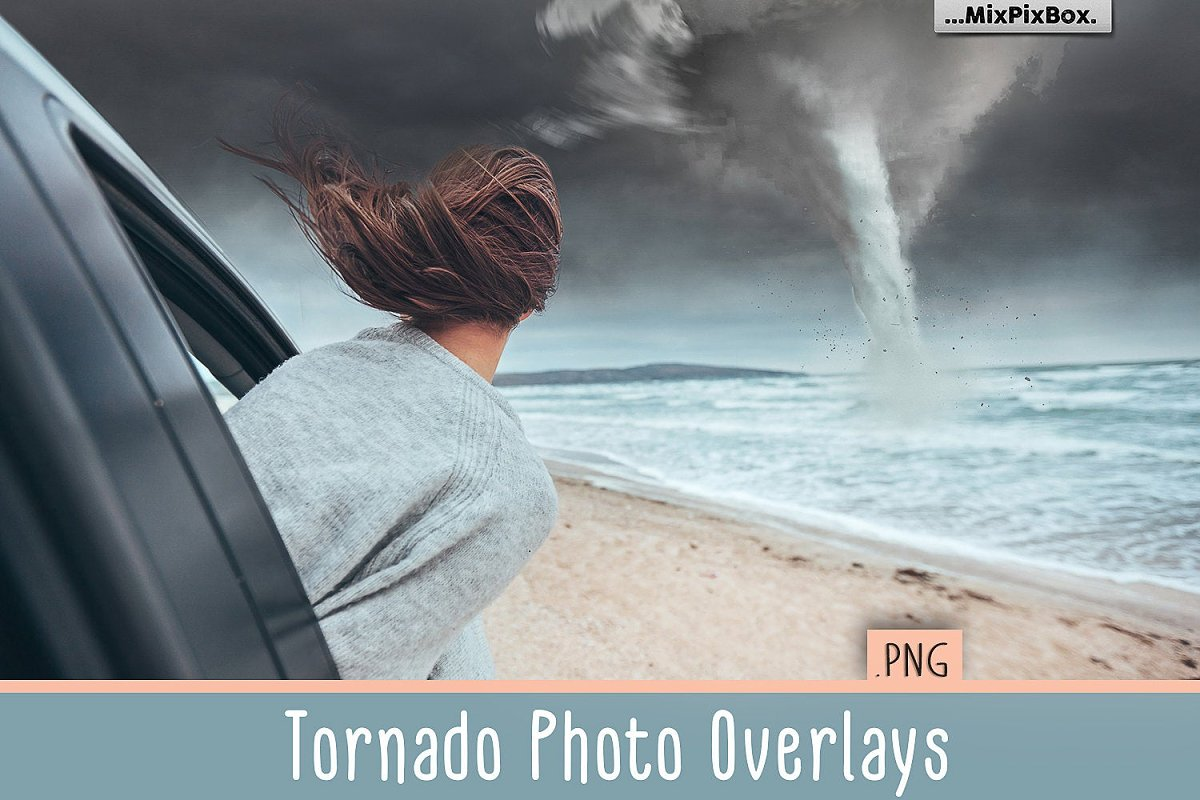 Tornado PNG Photo Overlays ~ Photoshop Add-Ons ~ Creative Market