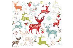 Christmas Reindeer Design Set