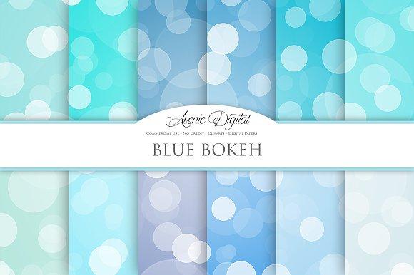 blue bokeh overlay digital paper textures creative market