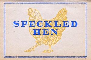 Speckled Hen Font