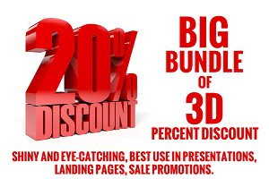 Big bundle of 3D percent discount