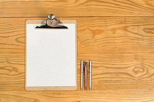 Traditional Clipboard with Pens