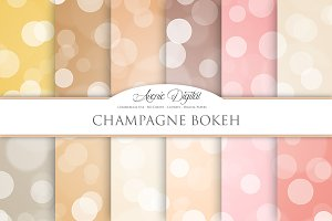 Champagne Bokeh Overlay Papers