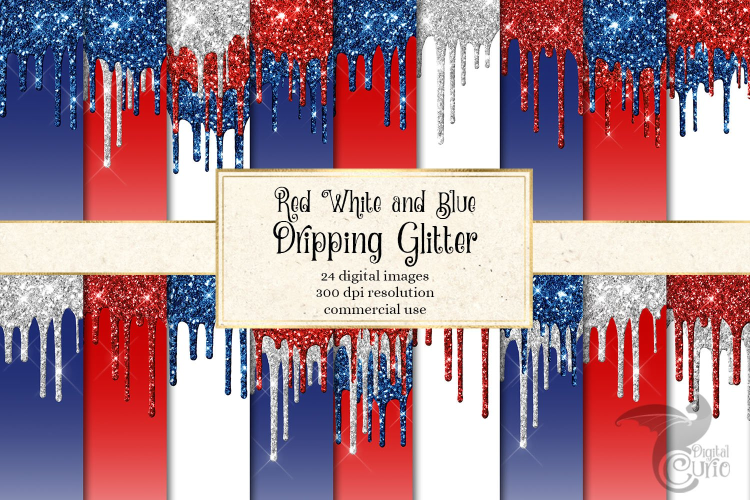 red white blue dripping glitter pre designed photoshop graphics creative market red white blue dripping glitter