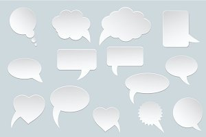 White communication speech bubbles