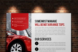 Car Repair Postcard Template
