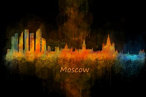 Moscow City Skyline Hq V4
