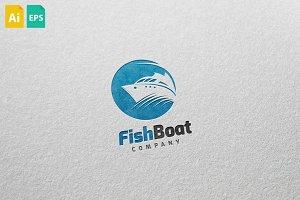 Fish Boat Logo