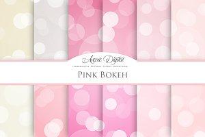 Pink Bokeh Digital Paper