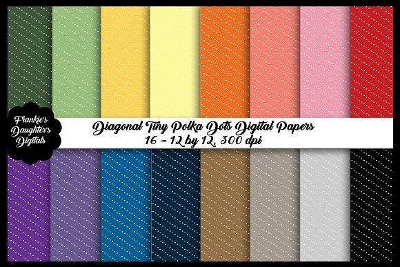 Diagonal Tiny Dots Digital Papers