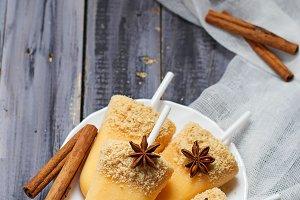 Pumpkin popsicle ice cream