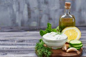 Greek sauce tzatziki