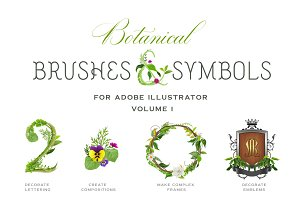 Botanical Brushes & Symbols