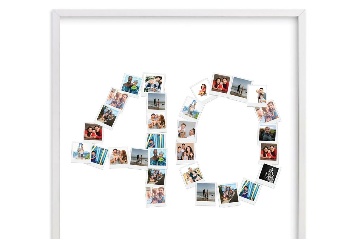 Number 40 Photo Collage Template id1 in Stationery Templates