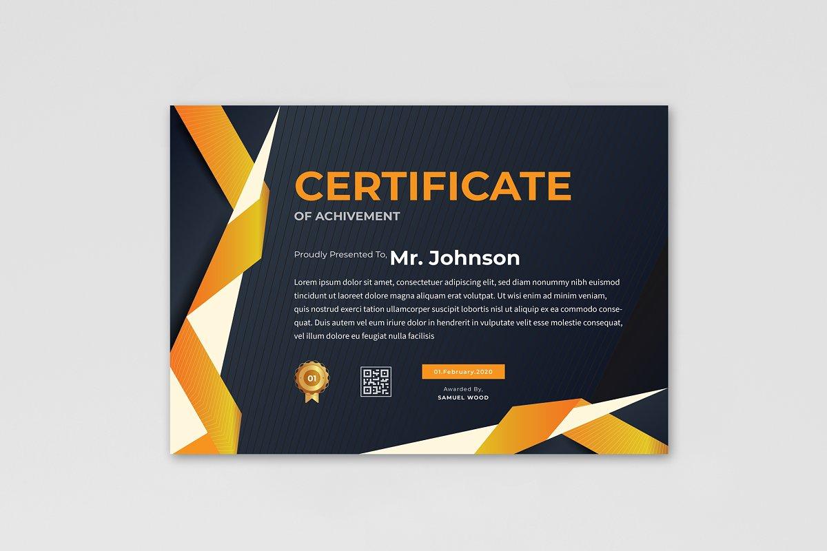 Multipurpose Certificate Design