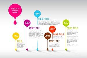 Vector Timeline Template