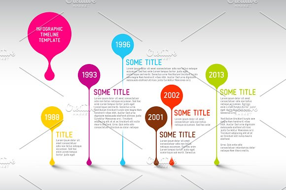 vector timeline template presentation templates creative market