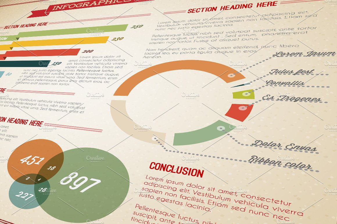 Retro Infographic Template ~ Templates ~ Creative Market
