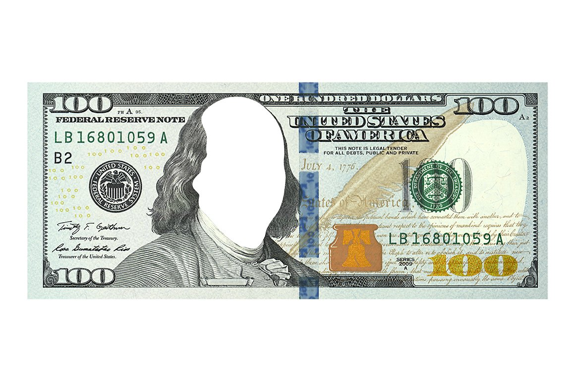 $100 dollar bill without face ~ Templates ~ Creative Market