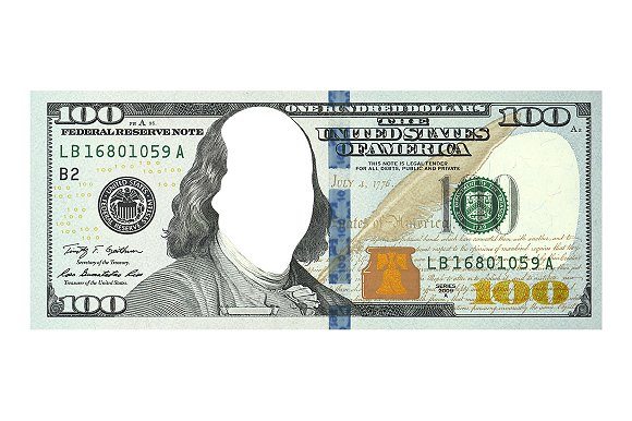 100 Dollar Bill Without Face