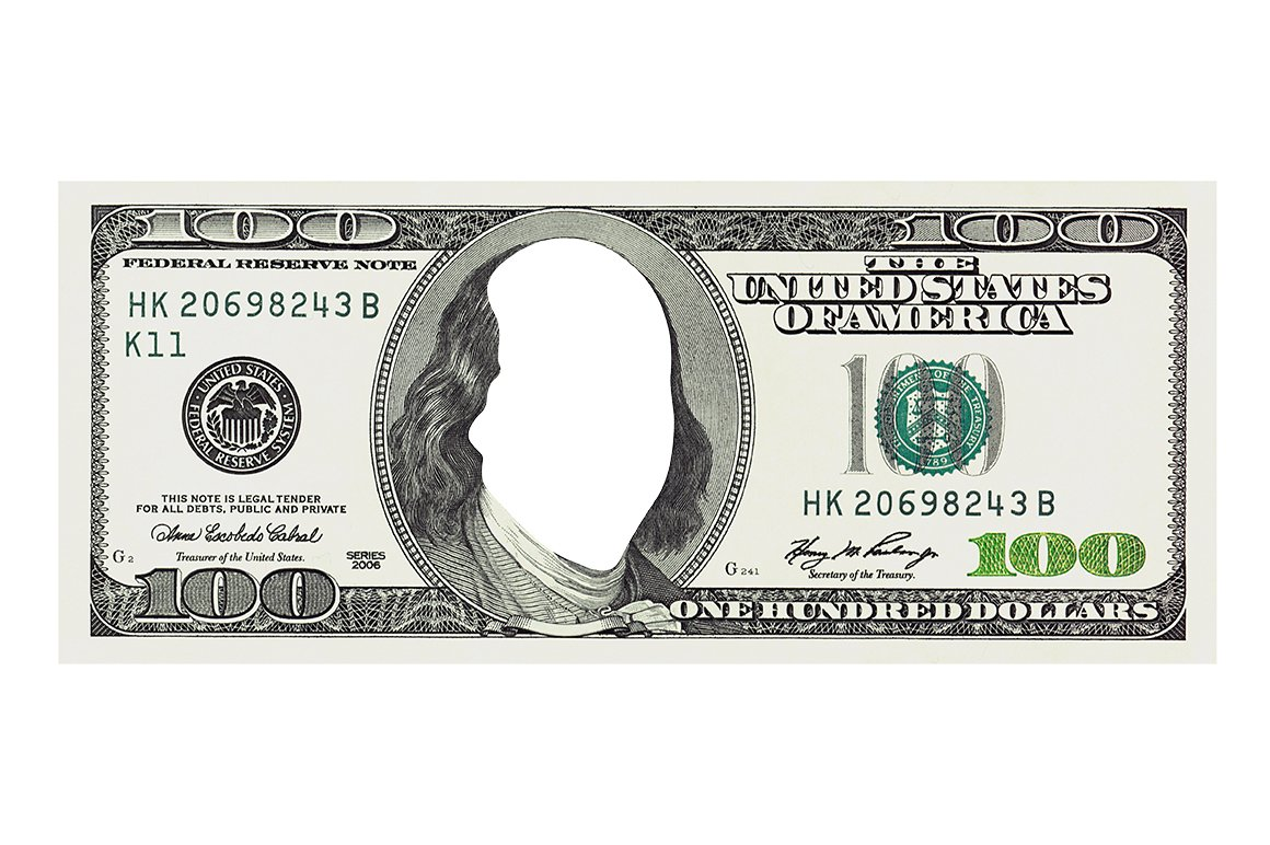 100 dollar bill without face templates creative market