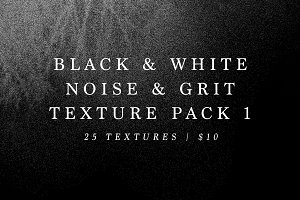 B&W Noise and Grit Texture Pack 1