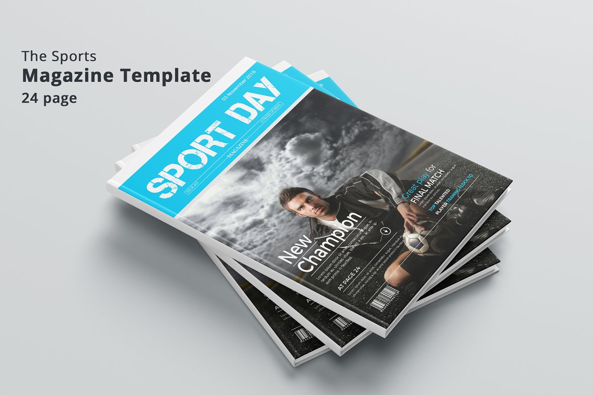 Sport Magazine Magazine Templates Creative Market