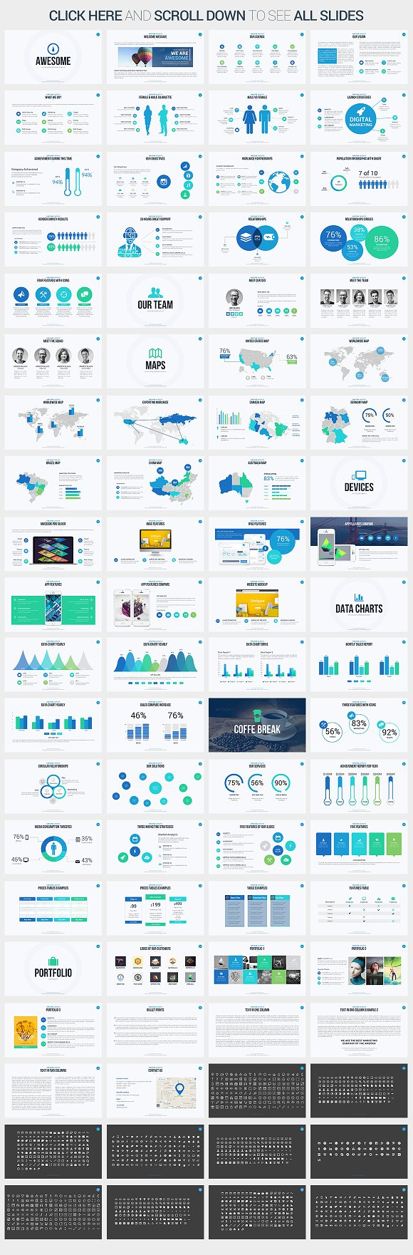 Awesome powerpoint template presentation templates creative market alramifo Image collections