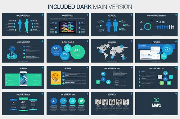 awesome powerpoint template presentation templates creative market