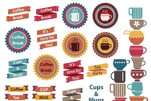Coffee & Tea design elements
