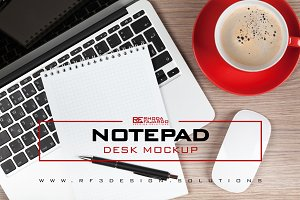 Notepad: Desk Mockup
