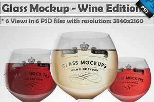 Glass Mockup - Wine Glass Mockup 4