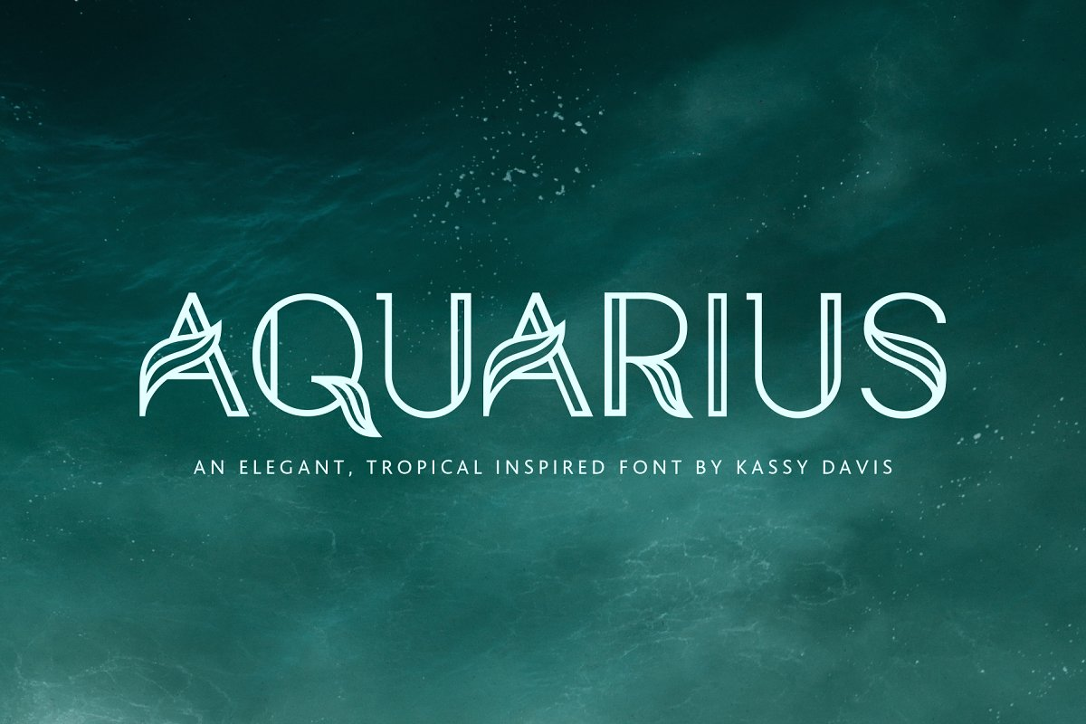 Aquarius – A Tropical & Elegant Font