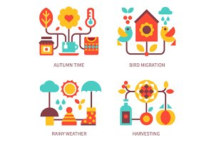 Autumn time attributes